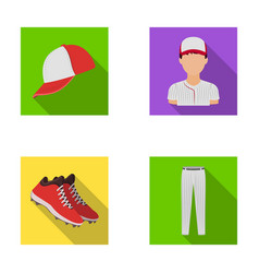 Baseball cap player and other accessories vector
