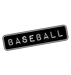 Baseball rubber stamp vector image