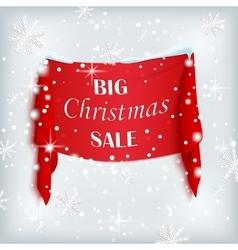 Big Christmas sale poster vector image
