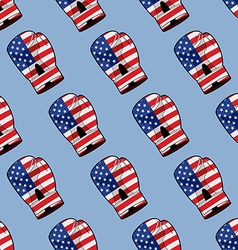 Boxing Glove with flag of America seamless pattern vector image vector image