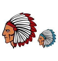 Brave tomahawk mascot vector image