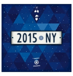 Creative new year 2015 design signboard vector