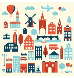 Europe city icon vector image vector image