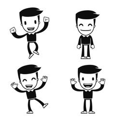 funny cartoon helper man vector image