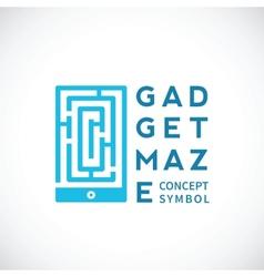 Gadget Maze Abstract Concept Icon vector image