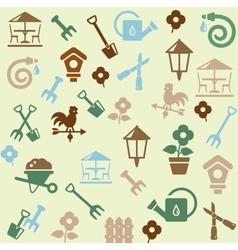 Gardening pattern vector