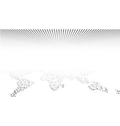 Global network mesh earth map vector