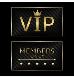 Golden VIP card vector image vector image