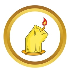 Halloween burning candle icon vector