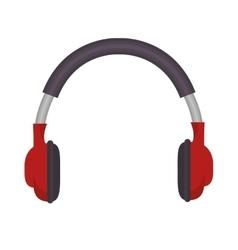 headset audio device icon vector image vector image