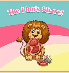 Idiom the lion share vector