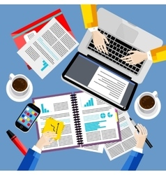 Modern business office and workspace background vector image
