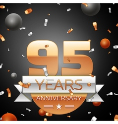 Ninety five years anniversary celebration vector image vector image