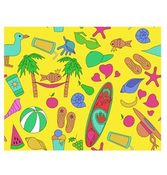 pattern beach vector image vector image