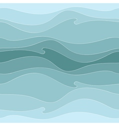 pattern of the waves vector image vector image