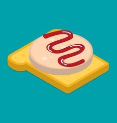 sandwich flat style vector image