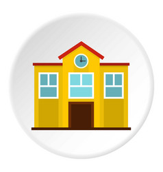 School icon circle vector