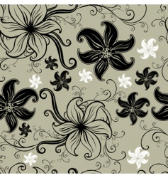 seamless floral twirled pattern vector image