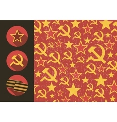 Set of flat style icons of Soviet Union signs vector image vector image