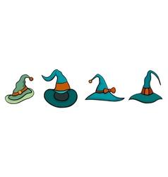 Set of Halloween Hats vector image