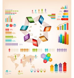 Set of Info graphics elements vector image vector image
