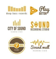 Set of logo badgelabel sticker emblem print vector
