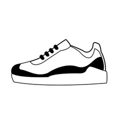 Sneakers shoe icon image vector