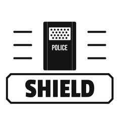 Social protest shield logo simple black style vector