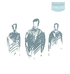 Standing businessman concept sketch vector image