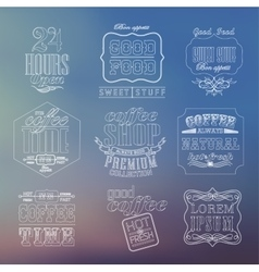 Vintage thin line bakery labels vector image vector image