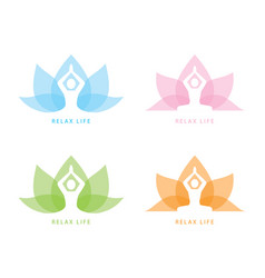 Yoga symbol icon design vector