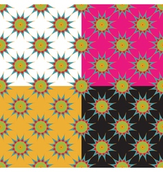 Set of four abstract geometric seamless pattern on vector