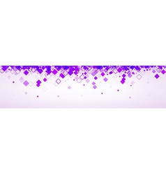 Banner with lilac rhombs vector