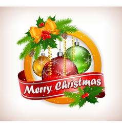 christmas lable 10 SS 4 v vector image