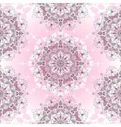 Vintage seamless pink pattern vector image