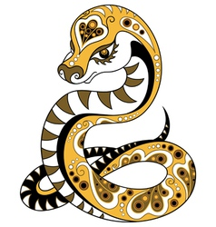 Chinese horoscope year of the snake vector