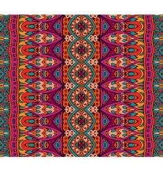 ethnic geometric seamless tribal pattern vector image