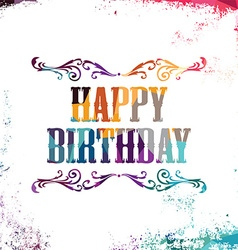 Happy birthday bstract colorful triangle vector