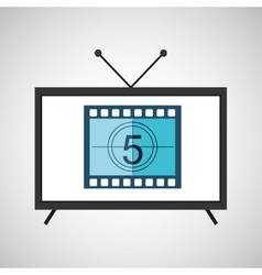 Screen tv movie strip countdown film vector