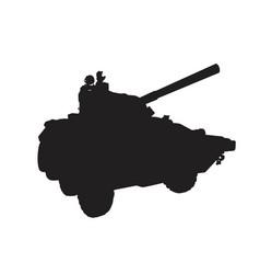 self-propelled artillery vector image