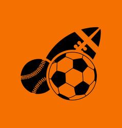 Sport balls icon vector