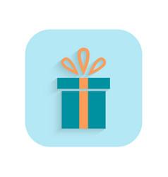 gift christmas flat icon holiday symbol vector image