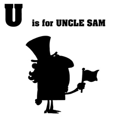 Uncle sam cartoon silhouette vector