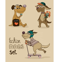 Fashion dog vector