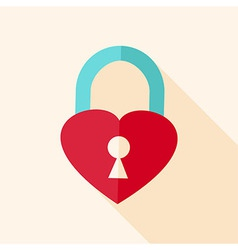 Heart shaped padlock vector