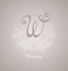 Vintage Template with Ornate Monogram vector image