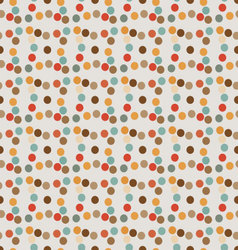 Seamless pattern of circles-diamond retro style vector
