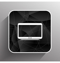 Tv icon flatscreen hd lcd vector