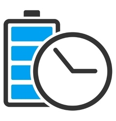 Battery clock icon vector