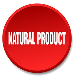 Natural product red round flat isolated push vector